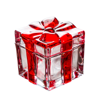 Delicate Crystal Glass Butterfly Knot Gift Box Decorative Ribbon Candy Storage Box Chocolate Holder Jewelry Craft Accessories
