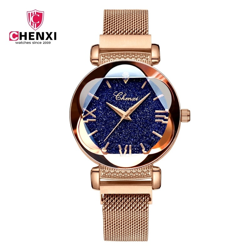 Web Celebrity Fashionable Starry Night Dial Ladies Watch Magnet Milan Mesh With Dawn New Quartz Watch The Best Gift