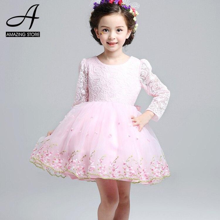 Popular Little Girls Long Sleeve Dresses for Party-Buy Cheap ...