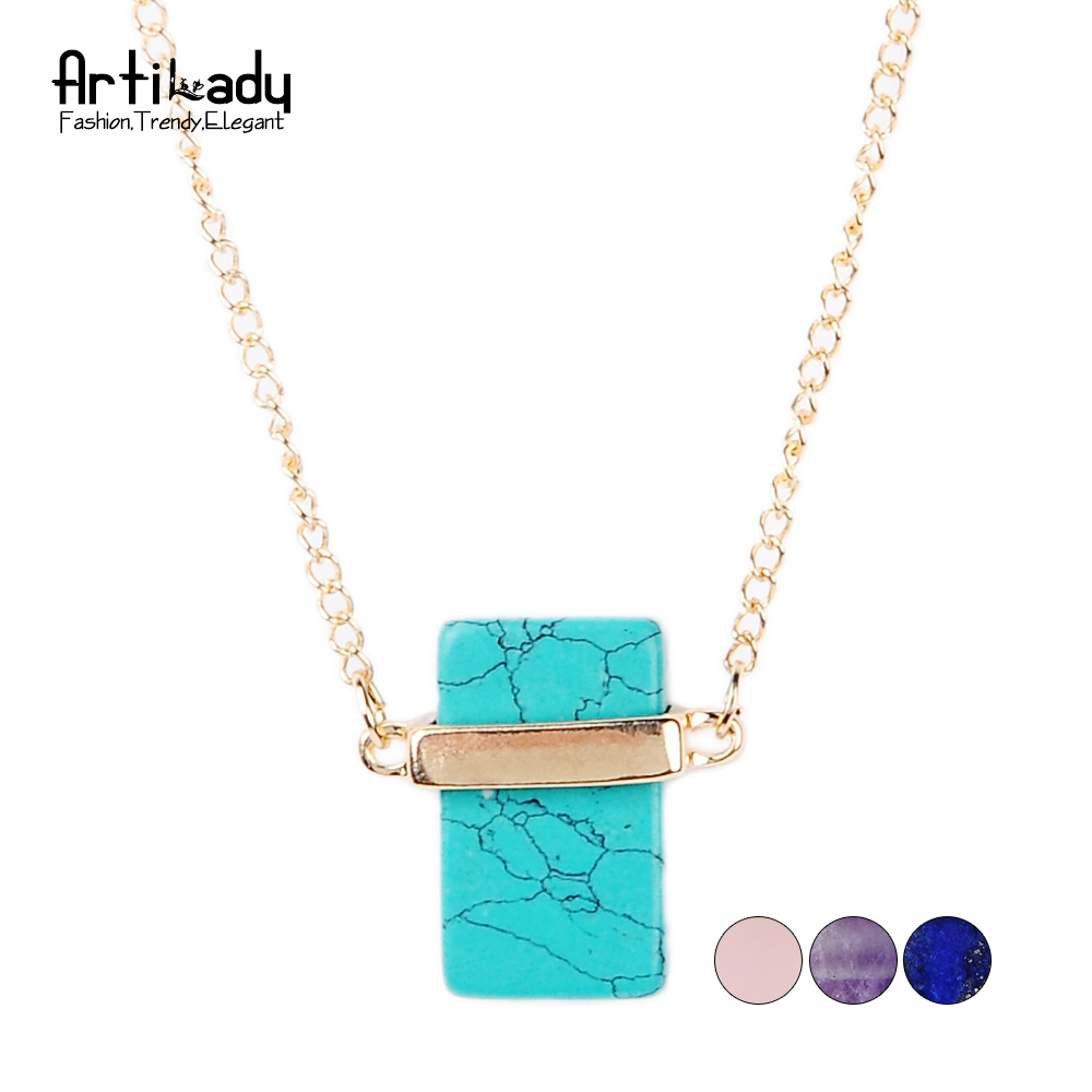 Buy artilady fashion turquoise necklace for Turquoise colored fashion jewelry