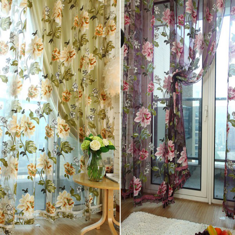 Confronta i prezzi su flower curtain fabric   shopping online ...