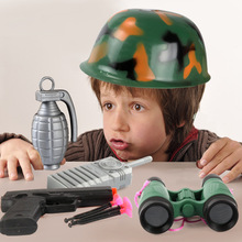 Children Pretend Play Toys Sets Police cap Set Engineering Fire Army War Role Toy Creative Kids Action Figures