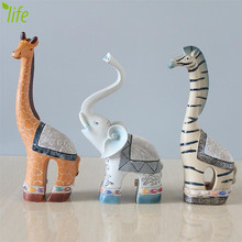DMLS Home Decor Elephant Figures Creative Wedding Gift Modern Bookcase Resin Giraffe Artware Figurines 1 Piece Free Shipping