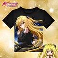 Anime To Love Ru Golden Darkness T-shirt Black Polyester T Shirt Summer Active Tshirt Fashion Men Women Brand Clothing Clothes