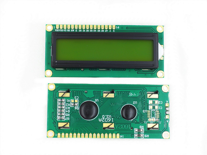 10PCS/LOT 1602 green screen LCD1602 LCD 1602 yellow screen with backlight LCD display 1602A 5V in stock