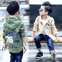Fashion Alphabet Autumn Spring Kids Jacket Boys Outerwear Coats Active Boy Windbreaker Cartoon Sport Suit For