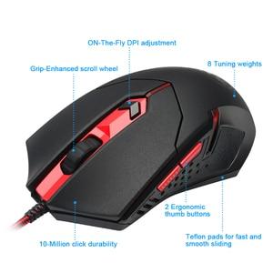 Image 3 - Redragon S101 BA 1 USB משחקי RGB מקלדת משטח עכבר אוזניות combos 104 מפתח 3200 DPI 5 כפתורי עכברים סט Wired מחשב מחשב משחק