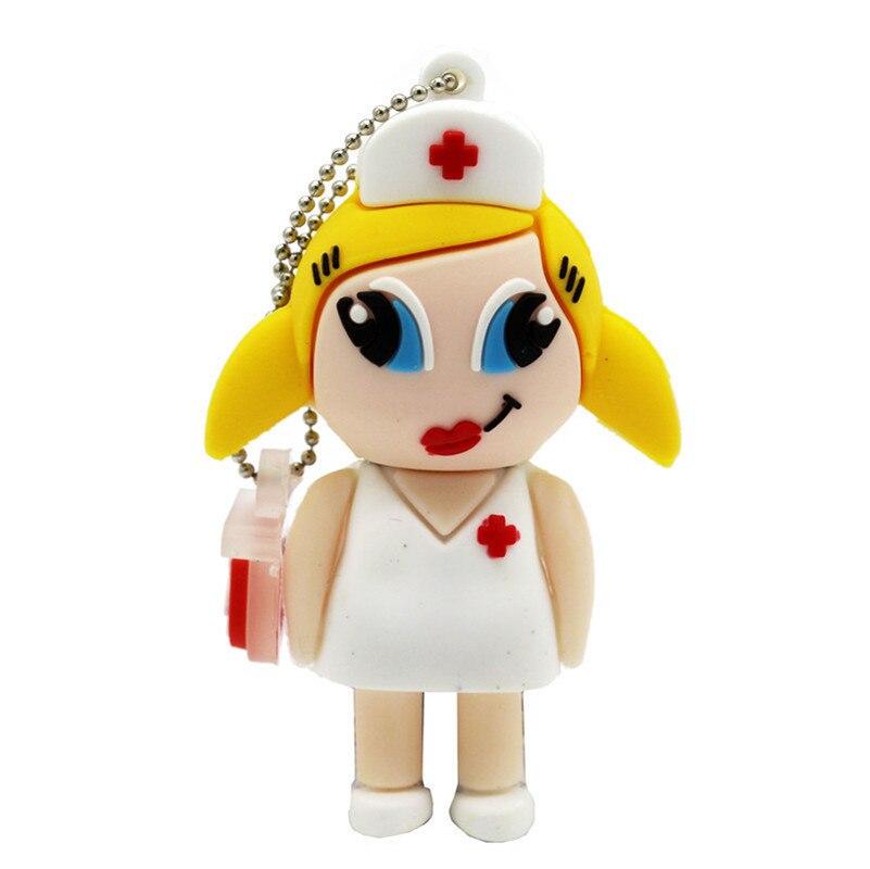 Doctor Nurse Pendrive 4GB 8GB 16GB 32GB 64GB USB 2.0 Memory Pen Drive Stick USB Flash Drives