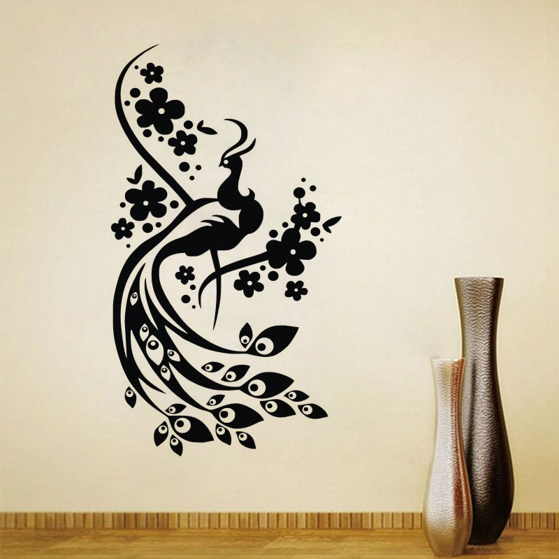 Beautiful Peacock Wall Decal Sticker