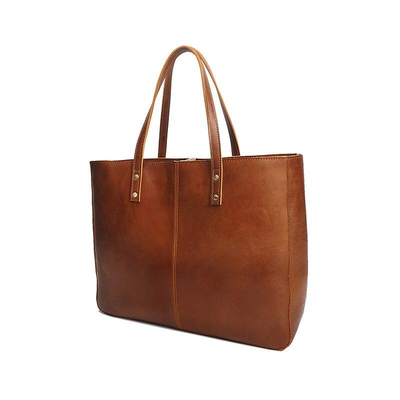 Vintage Women Bags Female Genuine Leather Handbags Luxury Shoulder Tote Bags Bolsos High Capacity Lady Laptop Travel Bags Hobos