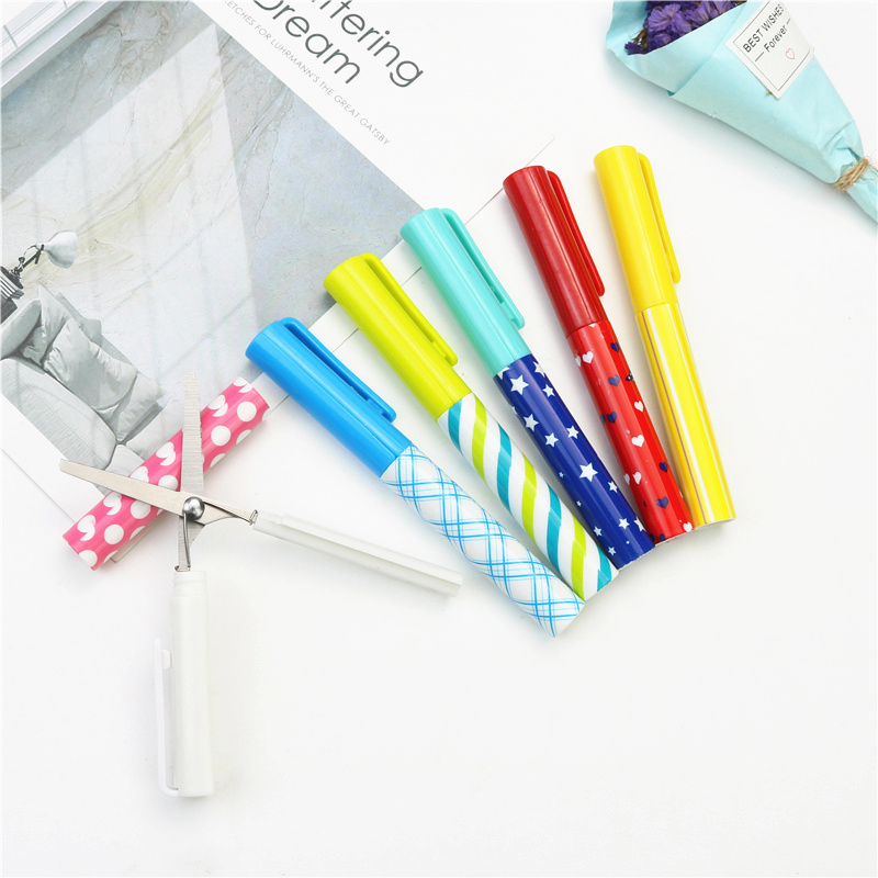 New Ideas Pen Shaped Stationery Scissors Simple Cute And Easy To Store School Office Stainless Steel Safety Scissors