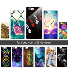 for Sony Xperia Z3 Compact Mini D5803 D5833 Soft TPU Cases Clear Silicone Back Cover for Sony Xperia Z3 Mini Animals Coque(China)