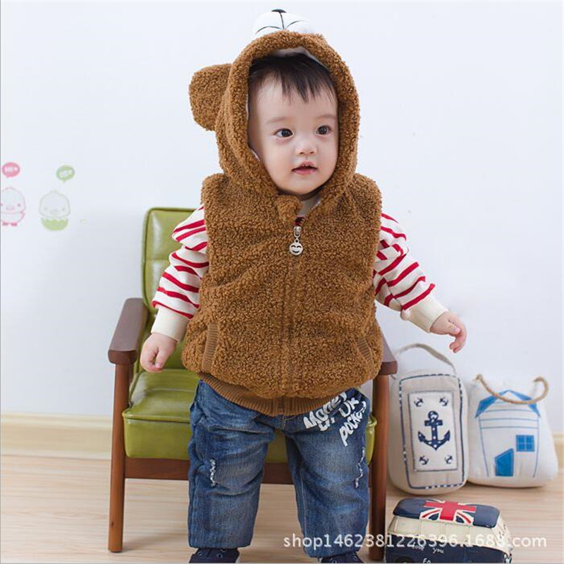2018 Cute Cartoon Bear Design Kinder Westen Herbst Winter - Kinderkleidung - Foto 5
