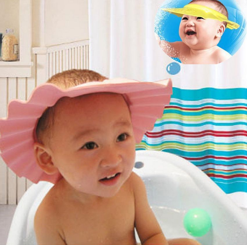 Bathroom Soft Shower Wash Hair Cover Head Cap Hat For Child Toddler Kids  Bathing Adjustable Baby Hat Toddler Kids Shampoo Bath In Shower Caps From  Home ...