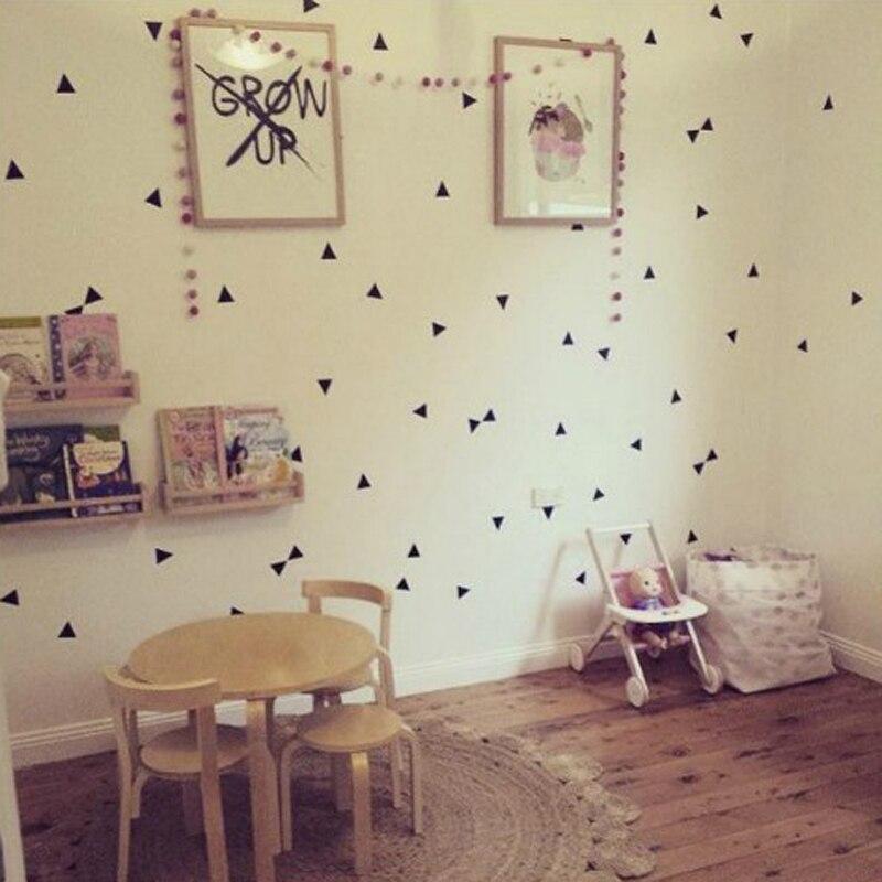 Bunte Dreieck Diy Wandaufkleber Fur Kinderzimmer Minimalismus