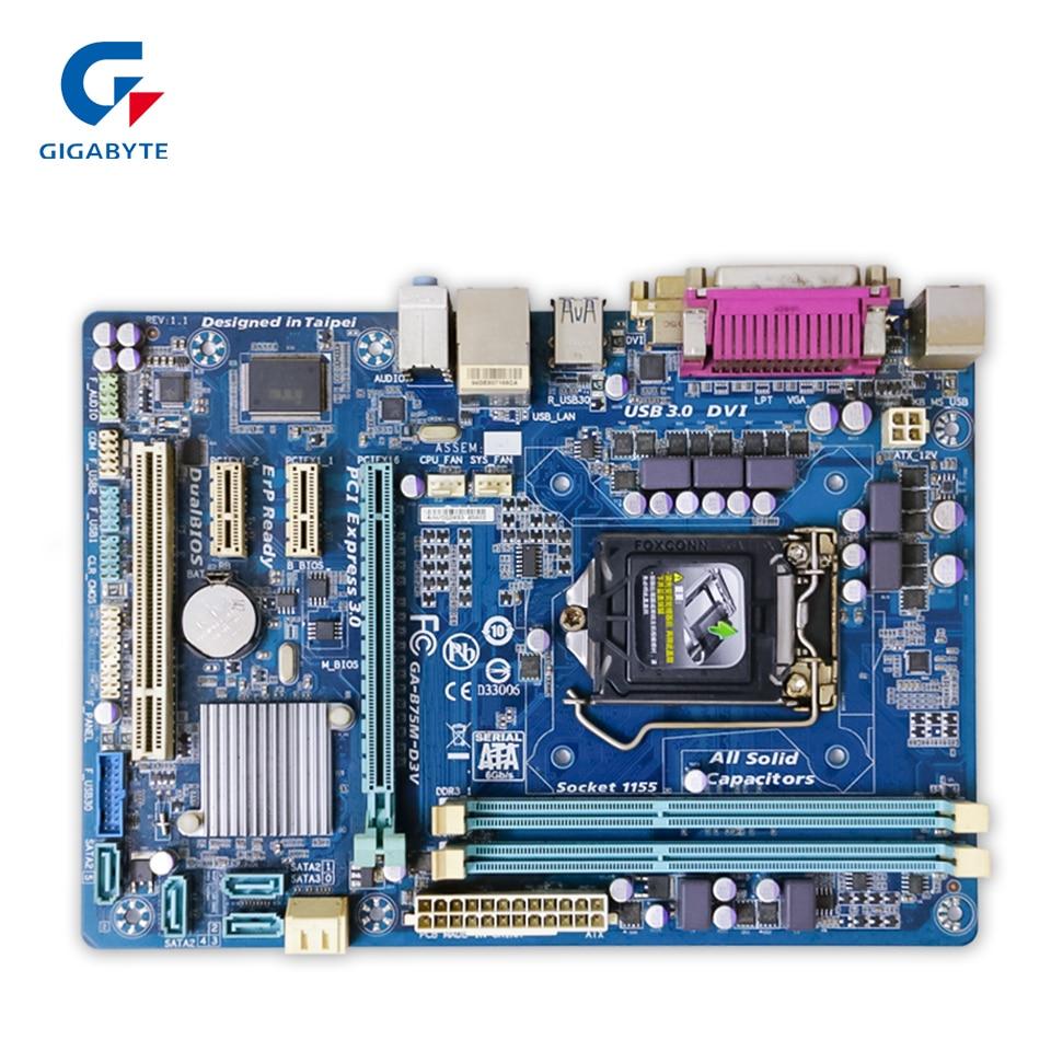 Original Gigabyte GA-B75M-D3V Desktop Motherboard B75M-D3V B75 Socket LGA 1155 DDR3 Micro-ATX 100% Fully Test original gigabyte ga 945gzm s2 desktop motherboard 945gzm s2 945gz socket lga 775 ddr2 micro atx 100% fully test