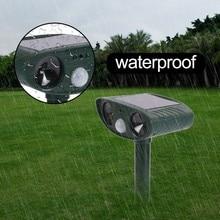 Cat Dog Ultrasonic Repellent Outdoor Solar Powered and Waterproof Animal Repeller Deterrent Scarer Pest Control