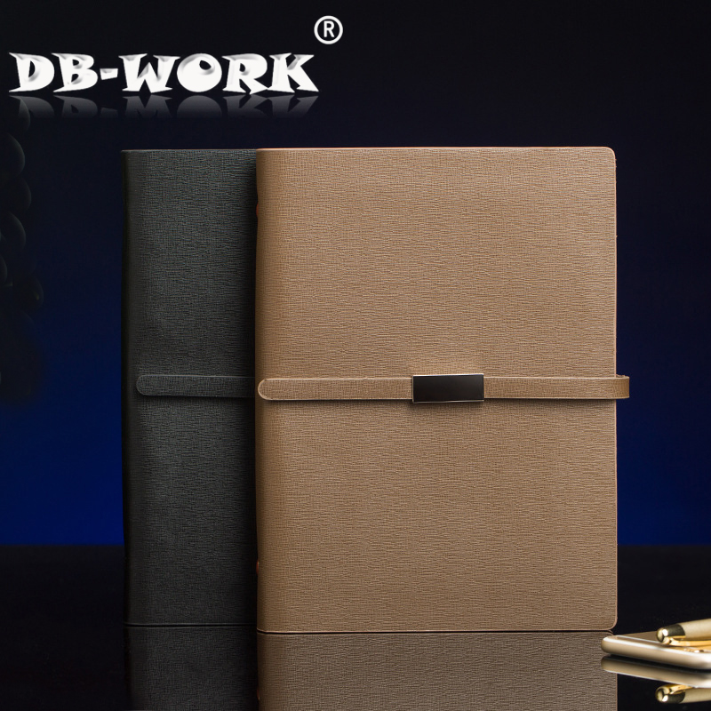 DB-WORK stationery notebook custom LOGO business loose-leaf notebook leather notepad thick gift custom coil notebook spiral notepad personalized customized picture photo logo