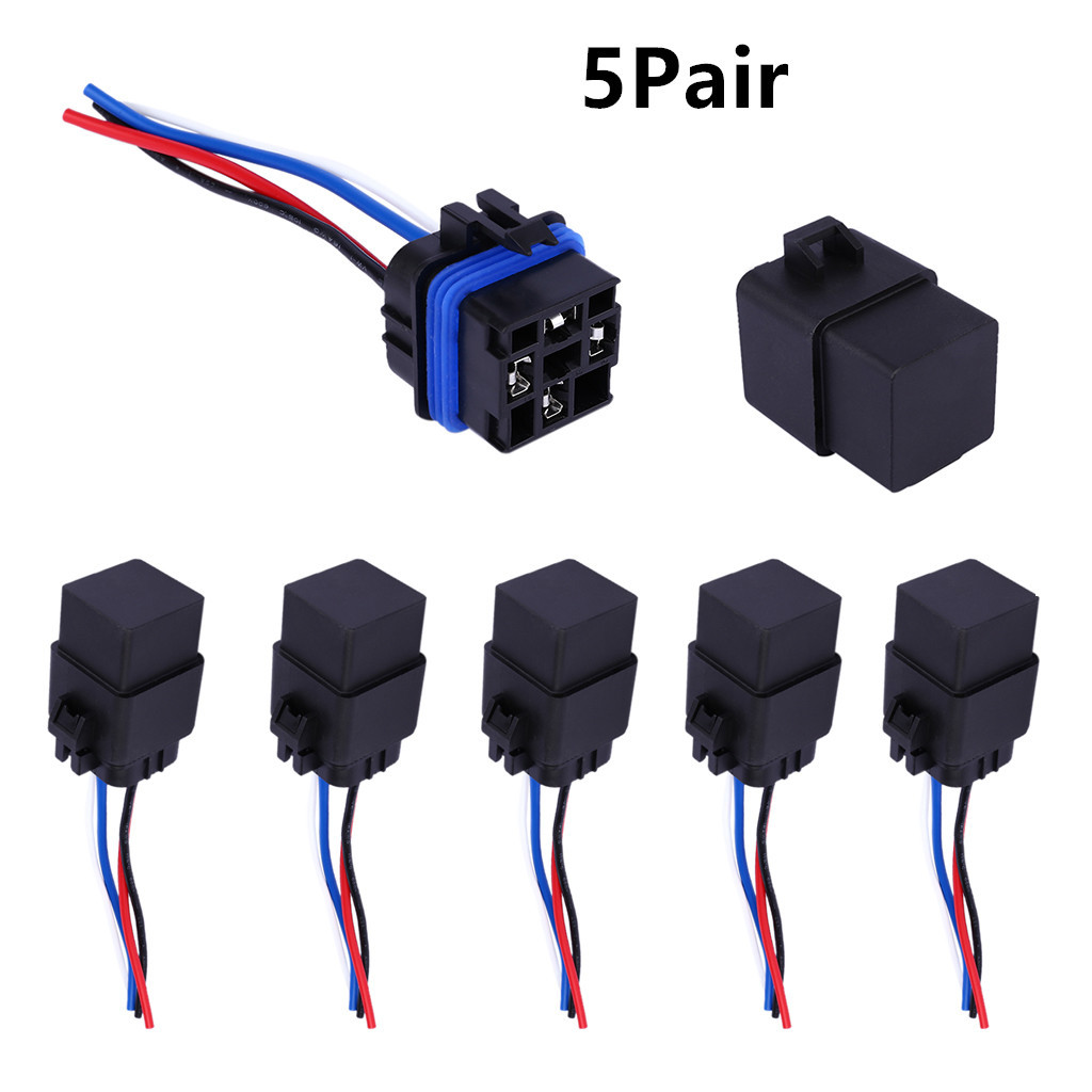 Relais de modification de voiture 12 V 40A 4Pin 12 V 4 P étanche intégré avec des pièces de véhicule de prise de câble de données
