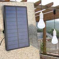Dropship Solar Panel LED Bulbs Kit for Ourdoor Garden Camping Hiking Emergency Home Light System