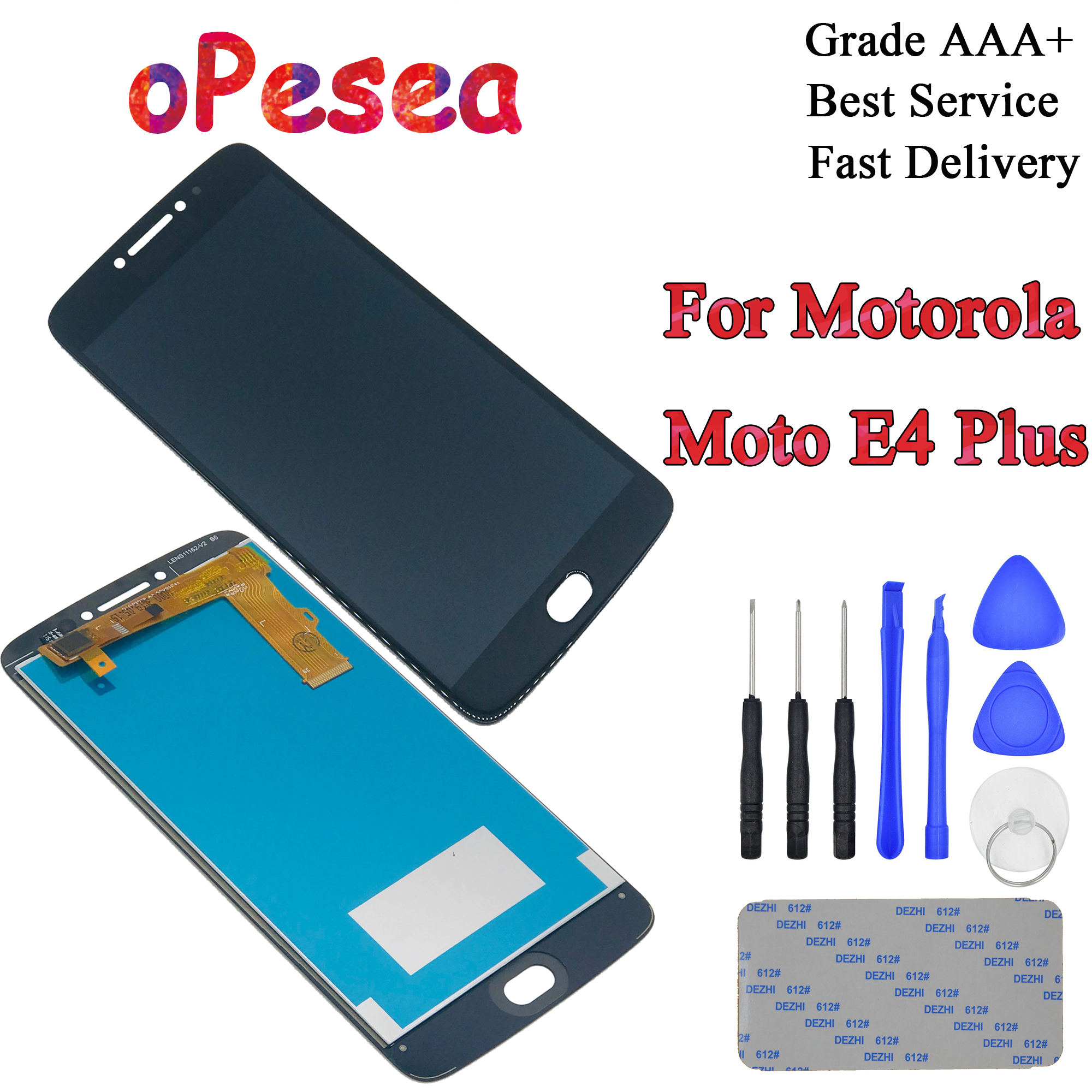 oPesea 5.5'' For Motorola <font><b>Moto</b></font> <font><b>E4</b></font> <font><b>Plus</b></font> XT1770 XT1771 <font><b>XT1772</b></font> XT1773 LCD Display Panel Touch Screen Digitizer Assembly image