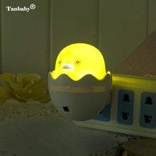 Tanbaby AC110-220V Wall Socket Lamp US EU Plug LED Mini Yellow Duck Night Light Carton Light Control Sensor Gift for Kids Baby led nightlights wall socket lamps cartoon chick light control sensor sensor night light for kids bedroom bedside lamp us plug