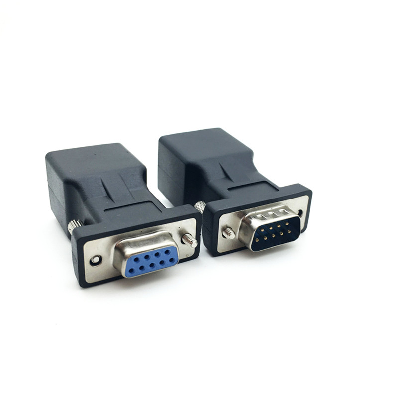 COM Port To LAN Ethernet Port Converter DB9 RS232 Male Female To RJ45 Female Adapter 1pcs Requires No External Power