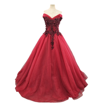 NOBLE BRIDE Gorgeous Red Prom Dresses 2019 Lady Party Dress