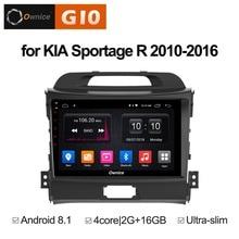 цена на 1024*600 Android 8.1 Quad 4Core 2GB RAM+16GB ROM Car DVD Player For Kia Sportage R 2010-2016 GPS Navi Radio Stereo BT WIFI TPMS