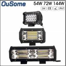 2 pieces 5″ 54W 5.5″ 72W 8.5″ 144W high power IP67 waterproof 6000K white 10-30V DC offroad car led work light 12v 24v