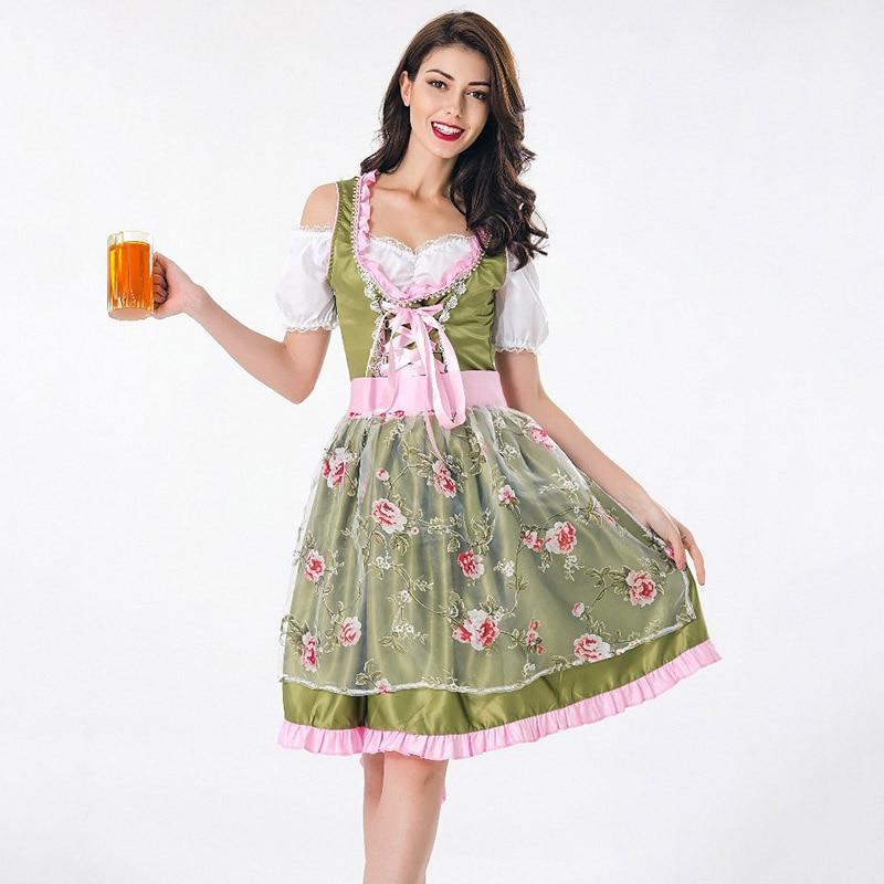 bavarian dirndl dress oktoberfest beer girl costume
