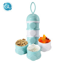 GL Baby Food Storage Three Colors Formula Milk Storage Toddler Three Grid Portable Newborn Baby Food Storage Box Canned Products(China)