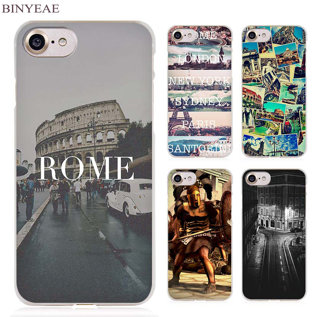 3c22af19926 BINYEAE Itália Roma Claro Caso de Telefone Celular Capa para Apple iPhone 4  4S 5 5S