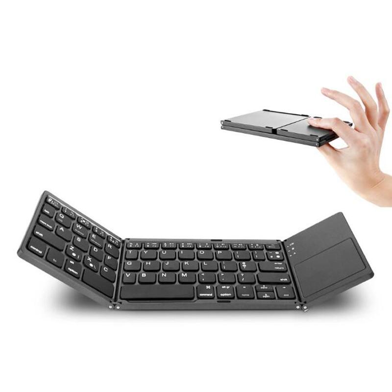 Foldable Bluetooth Keyboard Lipat Mini Wireless Keyboard Dengan Touchpad Mouse Untuk Android Smart Phone Tablet Apple Iphone Ipad Keyboards Aliexpress