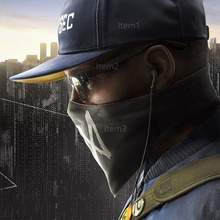 A Set of Watch Dogs 2 Mask Cap and Glasses Scarf Cosplay Costume Hat Watch Dogs Face Mask