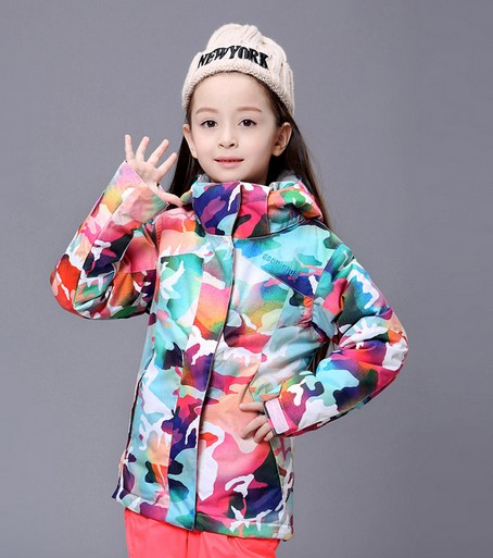 1af5eb1767 2016 childrens camouflage ski jackets multicolor snowboarding jackets kids  skiing jackets skiwear anorak snow coat waterproof-in Skiing Jackets from  Sports ...