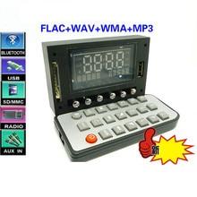 DC12V FLAC WAV WMA MP3 FM AUX USB Lossless Bluetooth Decoder Spectrum Display RC