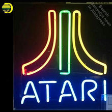 Four Colors ATARI Neon Sign neon bulb Sign Glass Tube neon light Recreation club Pub Iconic Sign Advertise arcade lamp wholesale(China)