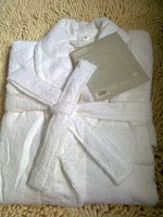 snow white/pink/light blue100% cotton terry Bathrobe, robes, natural eco-friendly unisex women men soft skin