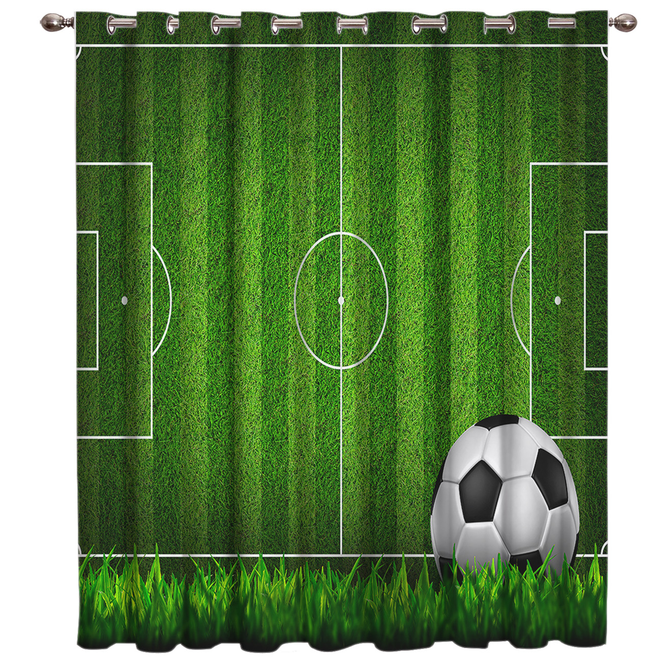 Soccer Football Game Competition In Gymnasium 3D Window Curtains For Living Room Bedroom Kitchen Cortinas Para Sala De Estar