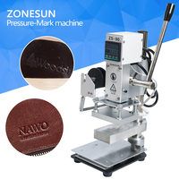 ZONESUN Two Work Plate Hot Foil Stamping Machine Manual Bronzing Machine for PVC Card leather and paper stamping machine
