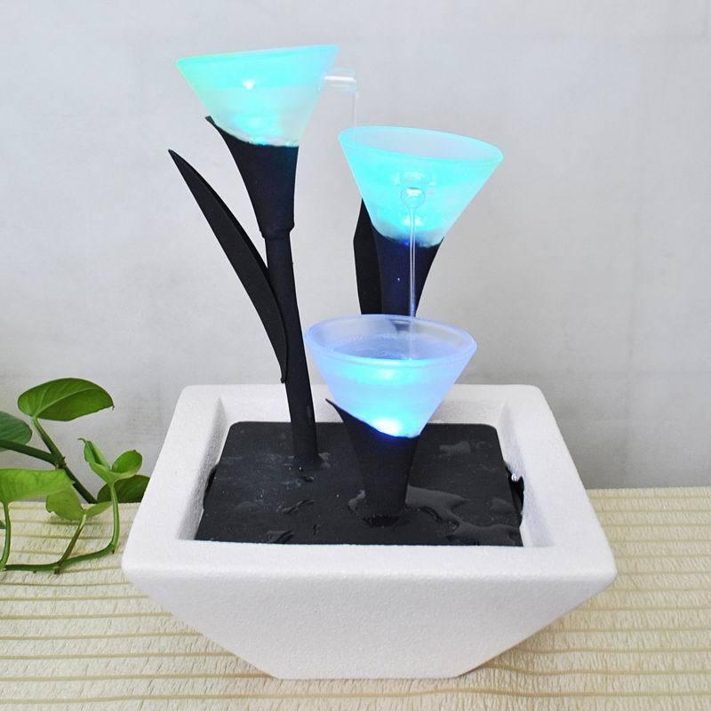 Cristal moderno sencillo fuente de agua de cer mica - Decoraciones para el hogar ...