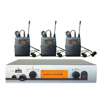 Профессиональный в ухо монитор Системы UHF Беспроводной сценический монитор Системы 3 приемники
