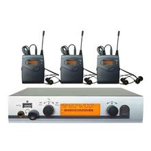 Profissional UHF Sem Fio In Ear Monitor System Sistema de Monitor de Palco 3 Receptores