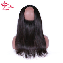 Queen Hair Products 360 Lace Frontal Closure Straight Hair Natural Hairline With