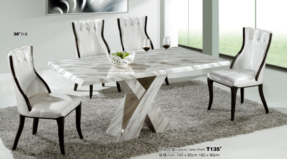 marble dining room table Modern marble dining room furniture in Dining Tables from  marble dining room table