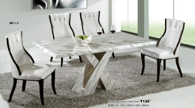 Modern marble dining room furniture-in Dining Tables from Furniture ...