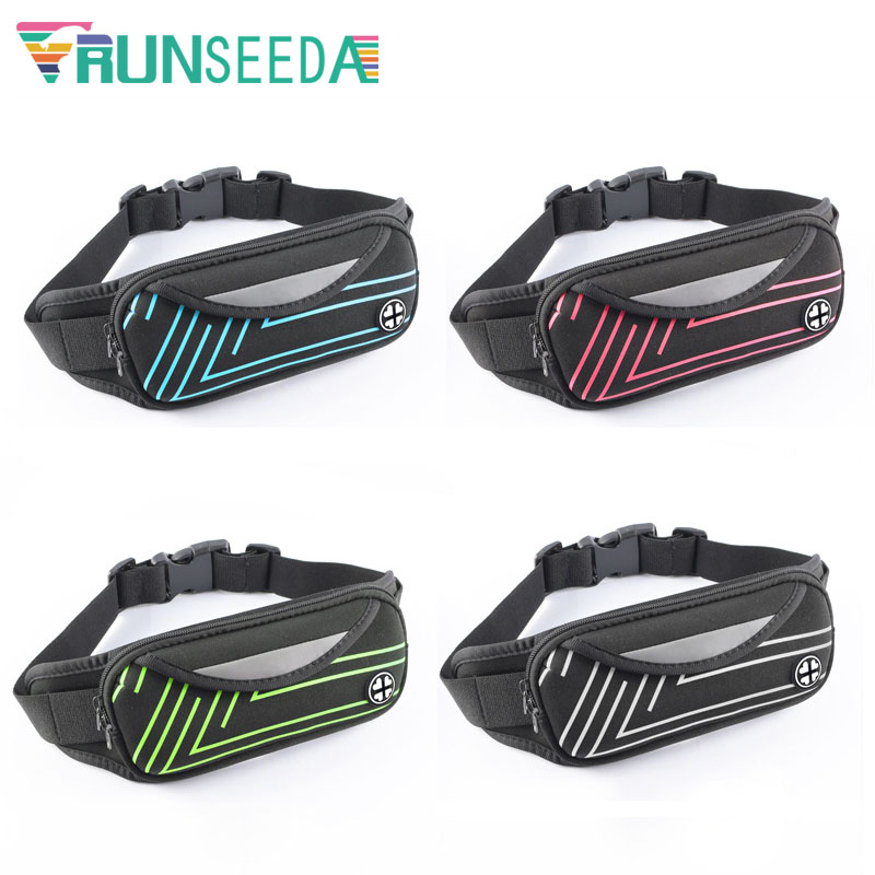 Runseeda Sports Waist Bag High Quality Cycling Running Belt Bag Pack Multi-Pockets Mobile Phone And Keys Pouch For Jogging Climb Men messenger style bags cb5feb1b7314637725a2e7: Blue Color|Green Color|Red Color|Silver Color