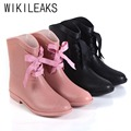 Shoes Women 2016 New British Style Women Boots Flat With Lace-Up Platfrom Ankle Pink Black Boots Autumn Sexy Ladies Shoes