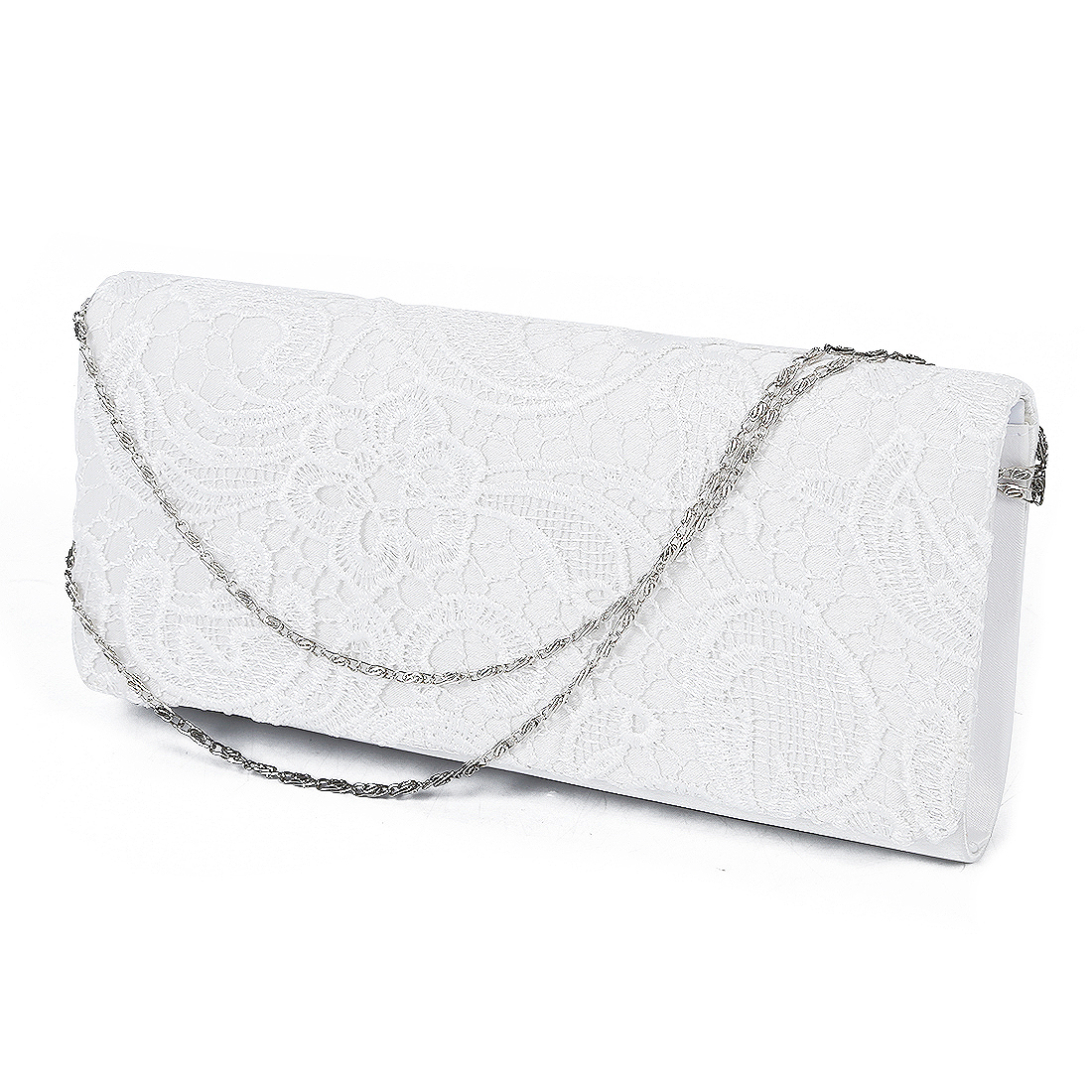ASDS bag Shoulder wallet pouch Lace Floral Style Satchel clutch Fashion for Women Girl White characteristic floral and butterfly shape lace decorated body jewelry for women